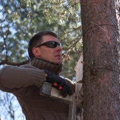 Inkilėlių kabinimo akcija, 2011-03-27, inkilas, medis, Laurynas Vaitkus