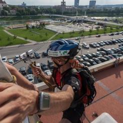 2013, Vilnius, Vilnius Challenge, miesto multi-sporto varžybos, Baltasis tiltas, VCUP, leidimasis virvėmis