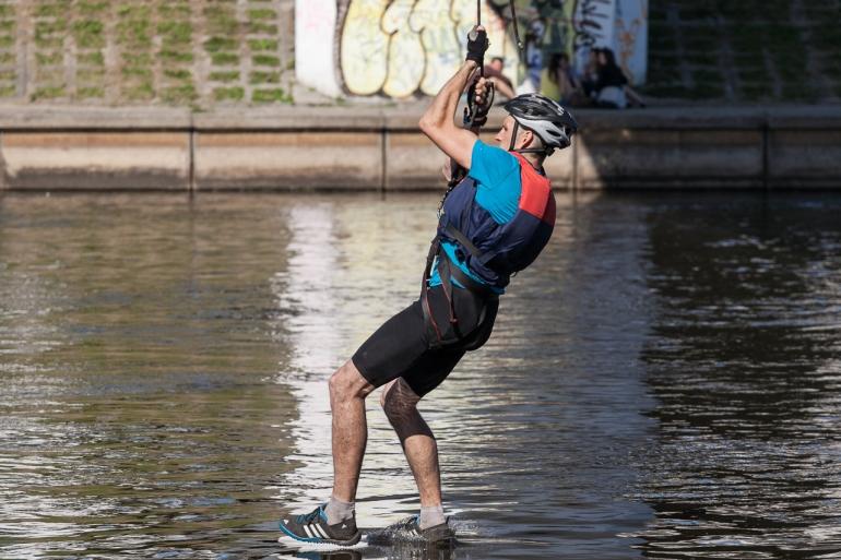 2014, Vilnius, Vilnius Challenge, miesto multi-sporto varžybos, Neris, Baltasis tiltas