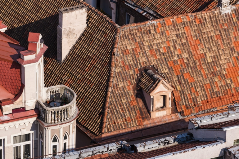 2014, balcony, balkonas, bokštas, Campanile of St. John's Church, citys, cityscape, Lietuva, Lithuania, miestas, roof, rooftop, saulė, stogai, stogas, summer, sun, šilta, Šv. Jonų varpinė, tower, vasara, Vilnius, warm