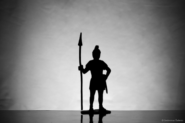 silhouette, warrior, spear, figure, siluetas, karys, ietis, figūrėlė