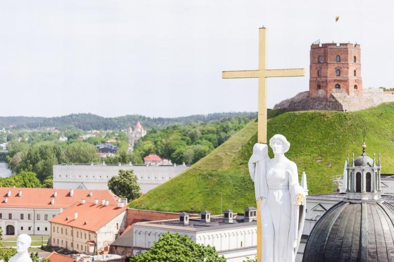 2014, Vilnius, Lietuva, Lithuania, Katedra, Cathedra, Vilnius Cathedra, Katedros bokštas, bell tower