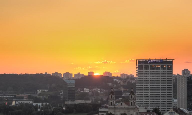 2014, city, evening, Gediminas' hill, Gedimino kalnas, HDR, Lietuva, Lithuania, miestas, Radisson blu, saulė, saulėlydis, sun, sunset, vakaras, Vilnius