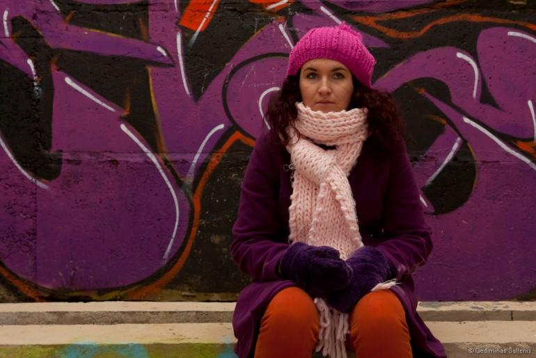 Klaipėda, Lithuania, Lietuva, 2011, ruduo, autumn, žiema, winter, mergina, portretas, Graffiti, Grafitis, apleistas pastatas, apleistas, abandoned, namas, house