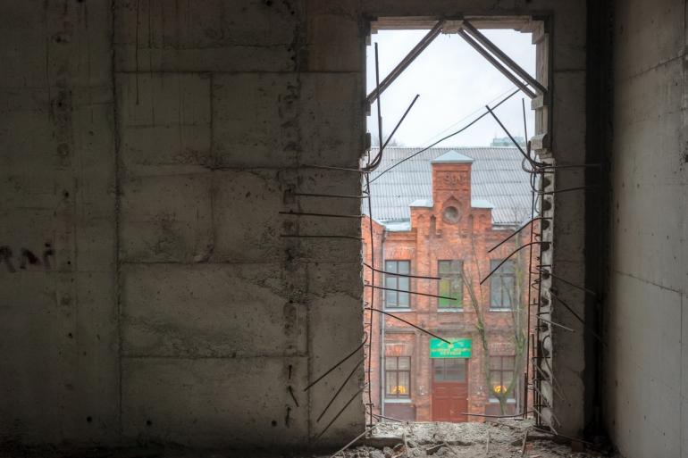 Kaunas, Lietuva, Lithuania, 2013, apleistas, apleista, abandoned, Respublika, viešbutis, hotel, HDR, stogai, roofs, stogas, roof, žiema, winter