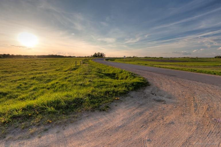 Lithuania, Lietuva, pavasaris, hdr, 2011, Aukštaitija, laukai, kelias, vingis, dangus, debesys, pieva