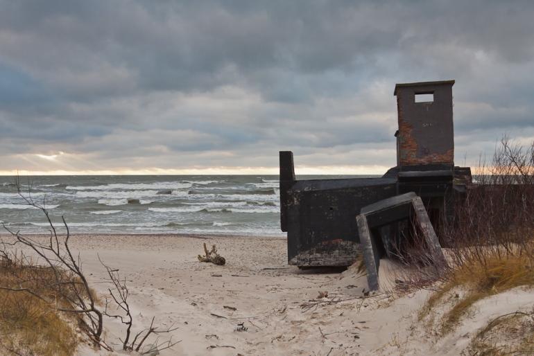 Lithuania, Lietuva, Klaipėda, 2011, sea, jūra, vakaras, evening, bunkeris, bunker, Baltijos jūra, Baltic sea