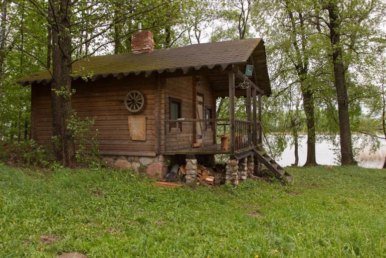2012, Lietuva, Lithuania, Rubikiai, ežeras, lake, namas, house