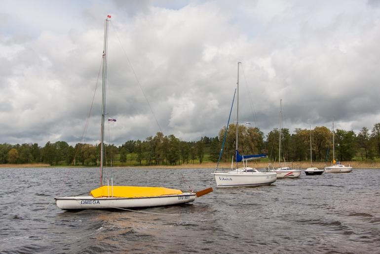 2012, Lietuva, Lithuania, Rubikiai, ežeras, lake, laivai, boats