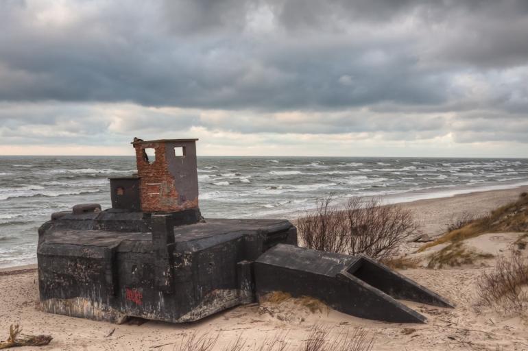 Lithuania, Lietuva, Klaipėda, 2011, sea, jūra, vakaras, evening, bunkeris, bunker, hdr, Baltijos jūra, Baltic sea