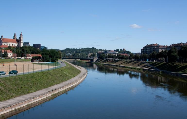 Vilnius, Lithuania, Lietuva, dangus, sky, 2009, polarizing, poliarizacinis, filtras, filter, cpl, river, upė, Neris