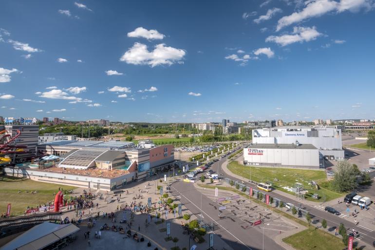 2014, HDR, Lietuva, Lithuania, Ozas, Vilnius, city, clouds, dangus, debesys, houses, mall, miestas, namai, panorama, prekybos centras, roof, saulė, sky, stogas, sun