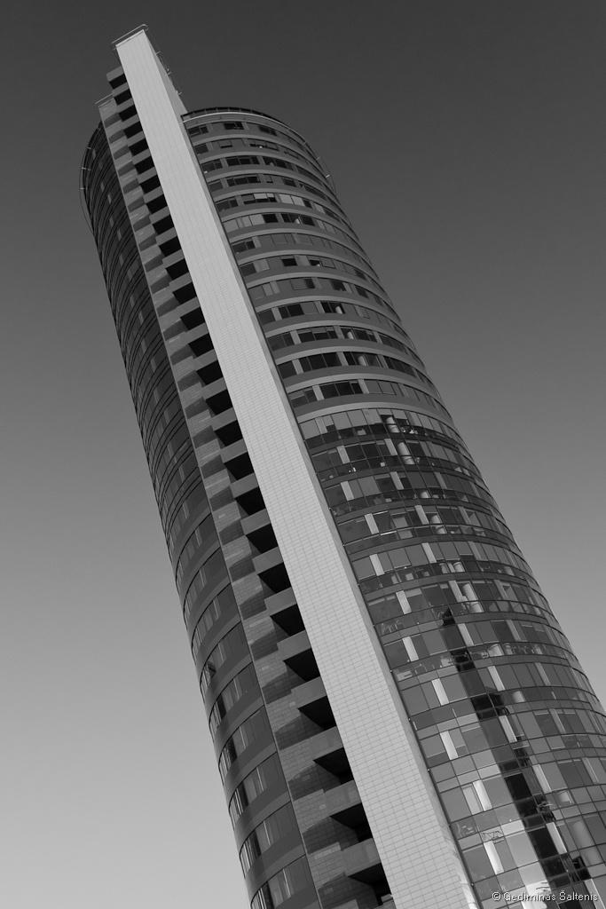 Vilnius, Lithuania, Lietuva, verslo centras europa, bw, 2010