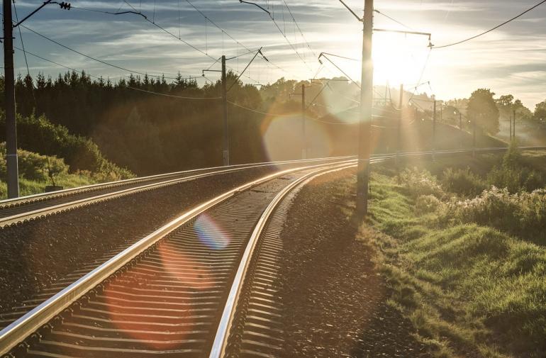Vilnius, 2013, bėgiai, tracks, traukiniai, trains, traukinys, train, saulė, sun, miškas, forest, HDR, saulėlydis, sunset, debesys, clouds, dangus, sky, Pavilnys