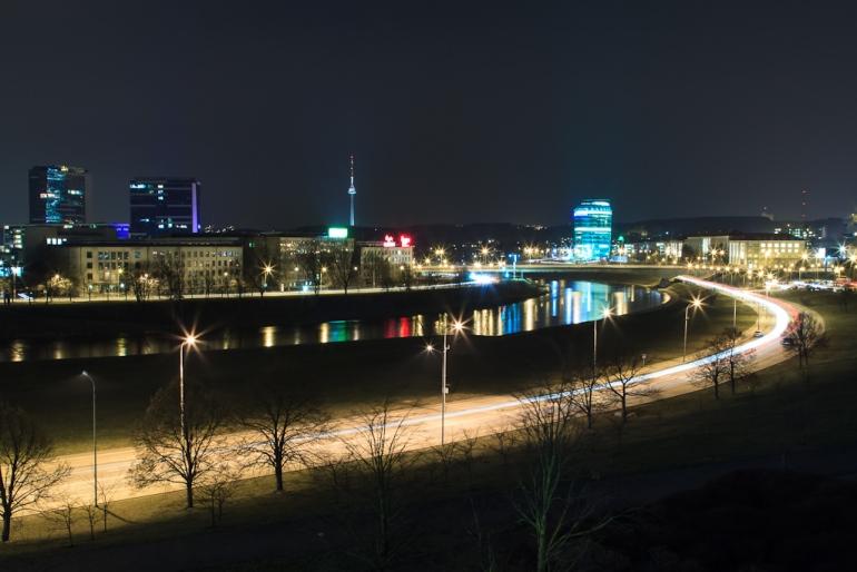 Vilnius, Lithuania, Lietuva, ilgas išlaikymas, naktis, long exposure, river, Neris, upė, 2012