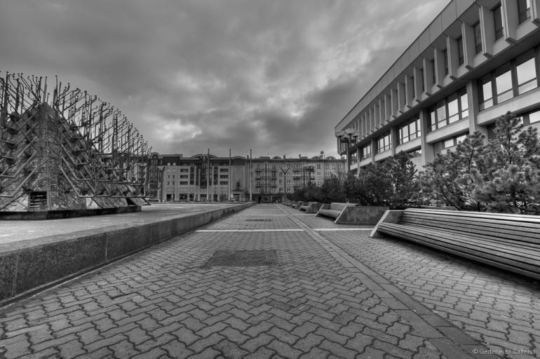Vilnius, Lithuania, Lietuva, seimo rūmai, bw, hdr, 2009