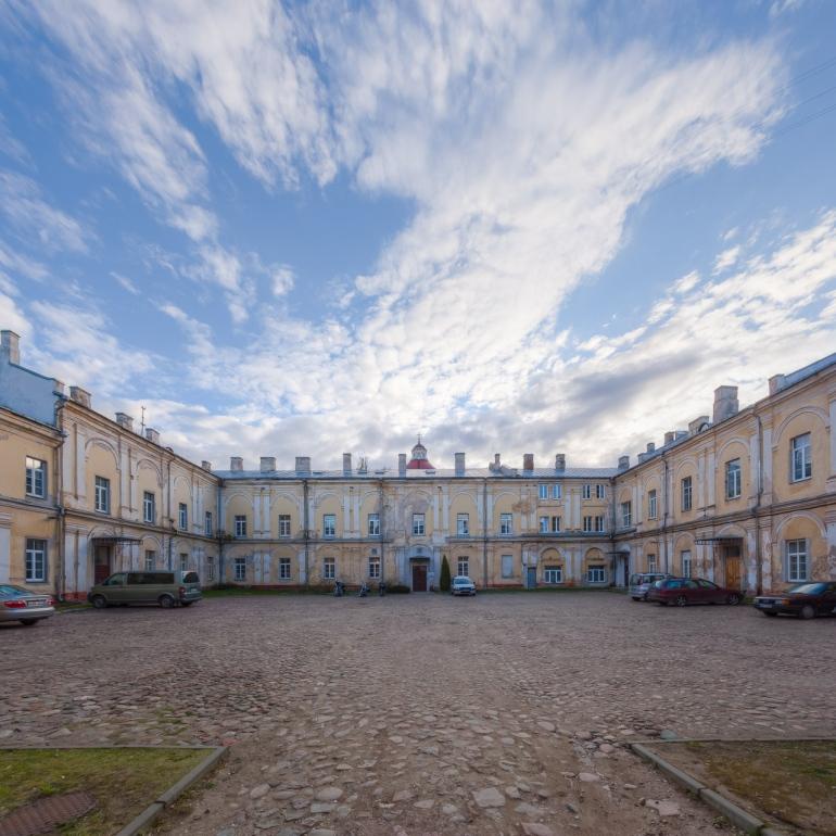 2014, HDR, Lietuva, Lithuania, Vilnius, building, clouds, dangus, debesys, kiemas, old, panorama, pastatas, saulė, sena, sky, sun, yard
